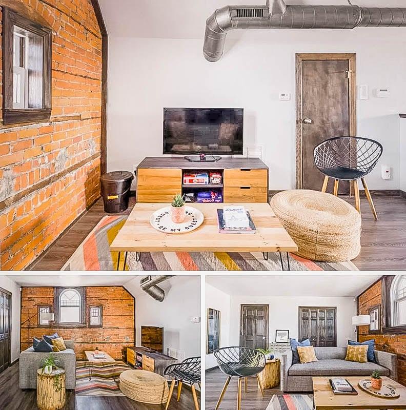 Modern living room furnishings.