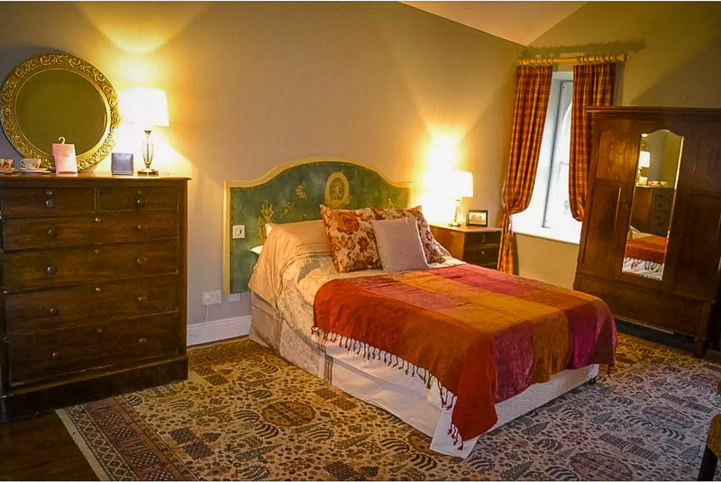 Stately master bedroom