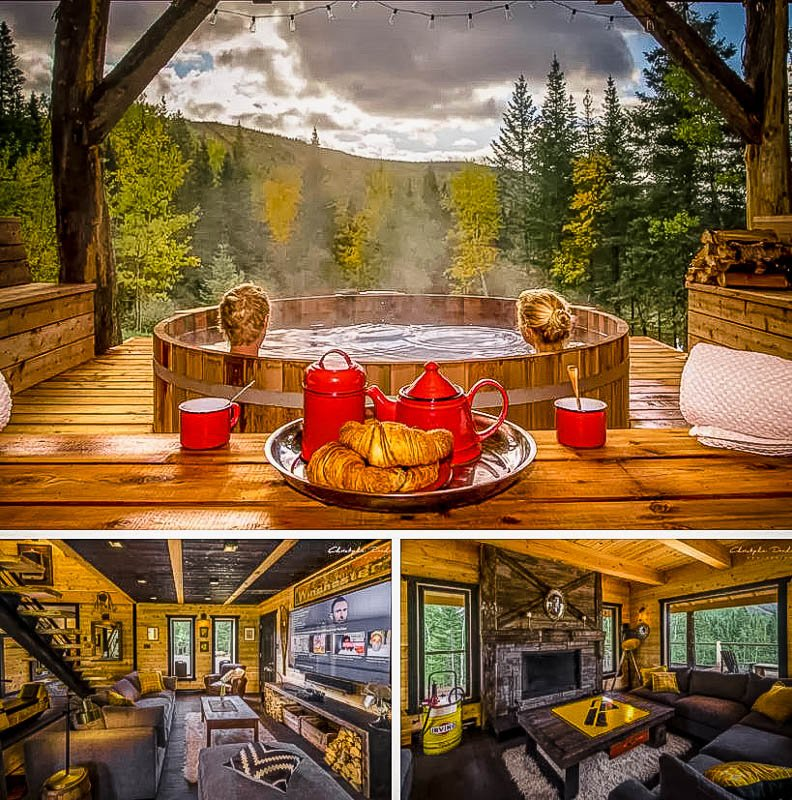 Mountaintop chalet rental with views of the countryside