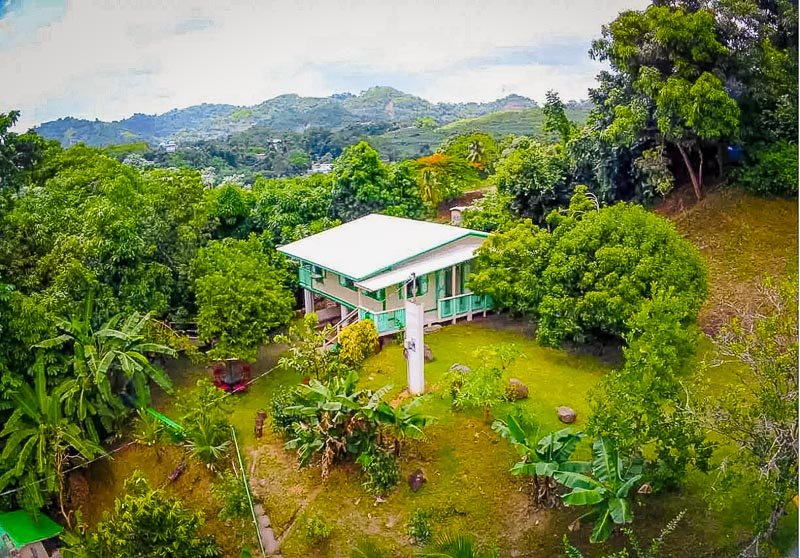 A romantic Airbnb in Puerto Rico tucked amid the mountains.
