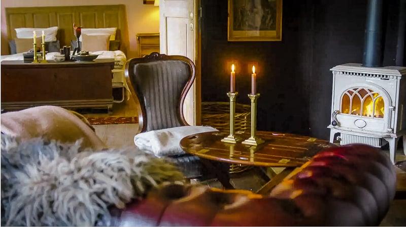 Cozy and antique furniture