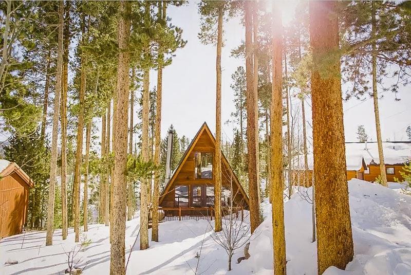 Quintessential A-Frame cabin rental in Colorado