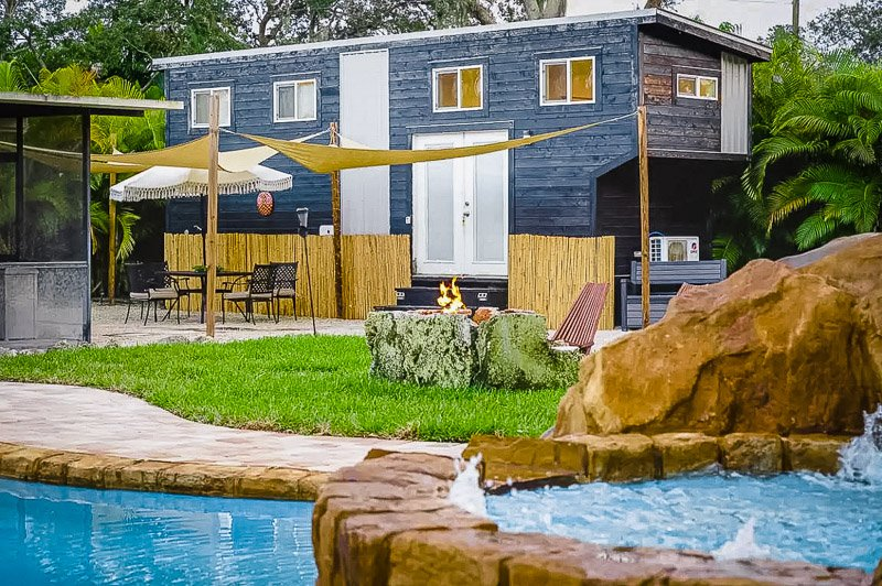 A tropical paradise Airbnb tiny home in Florida