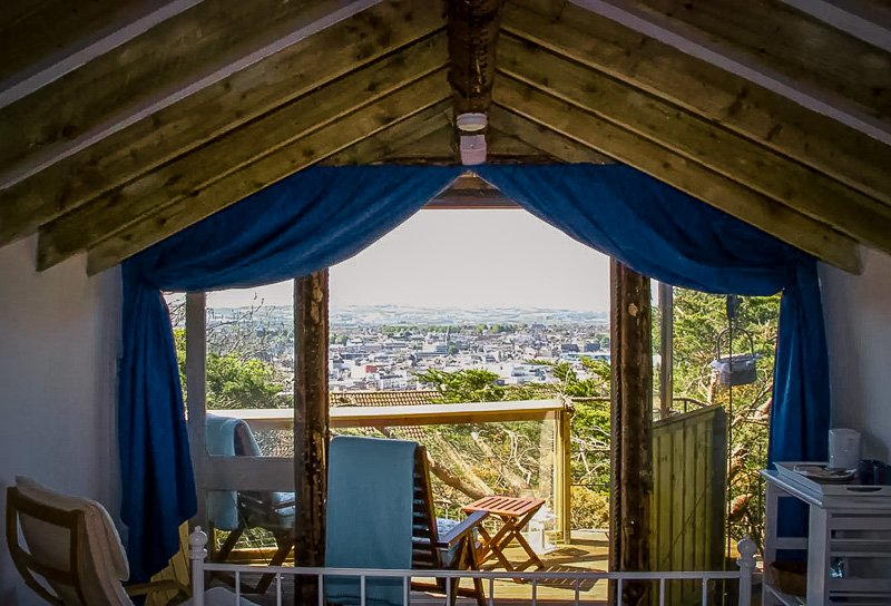 Panoramic views from the treetop vacation rental in Ireland