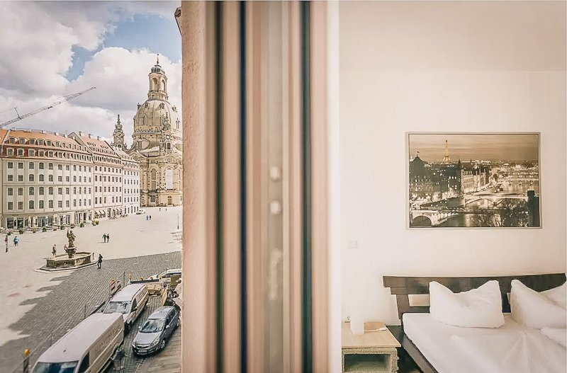 A city rental on Airbnb in the city center of Dresden, Germany