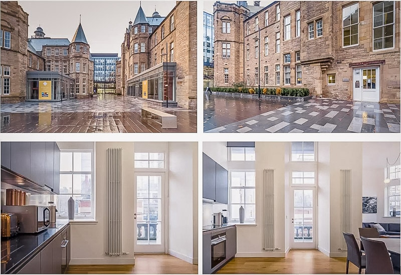 A luxury Airbnb rental in Edinburgh Scotland