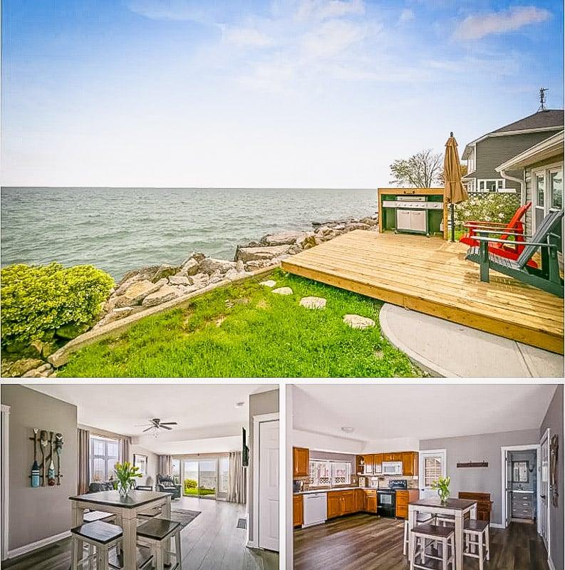Lake house Airbnb on Lake Erie