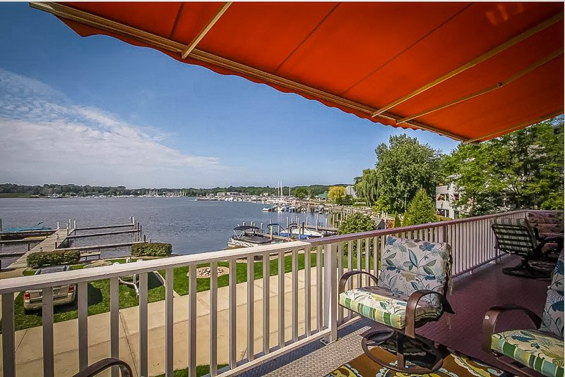 Beautiful lake views from the covered porch