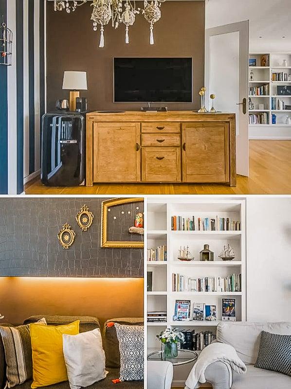 Elegant and modern living room area