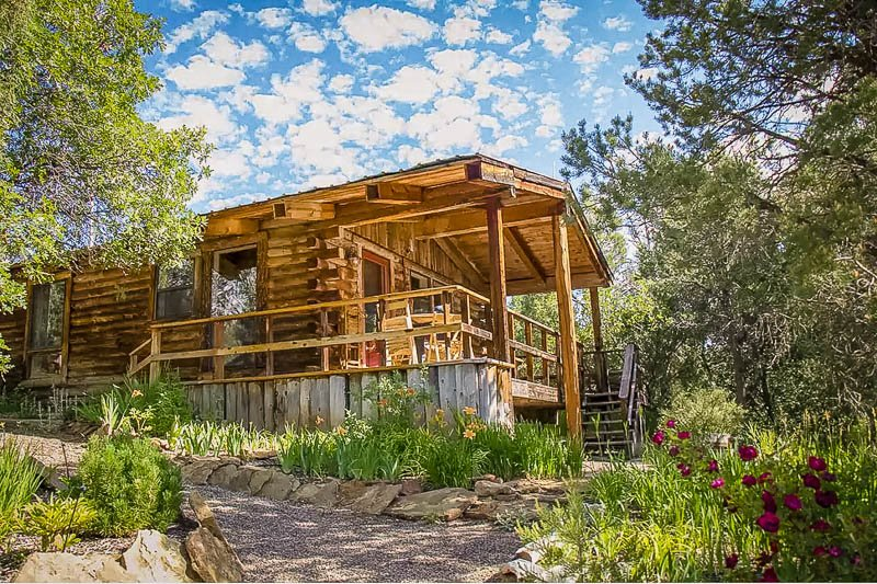A southwestern cottage for rent in Colorado.