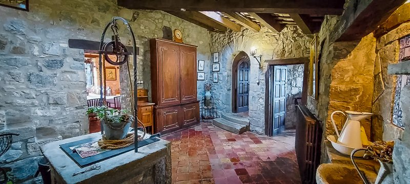 Medieval castle interior decor