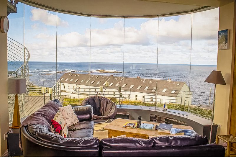 A house rental in Ireland with views of the ocean