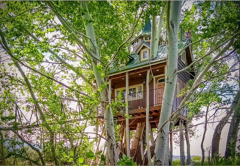 An Airbnb treehouse that blends perfectly into the southwestern US.