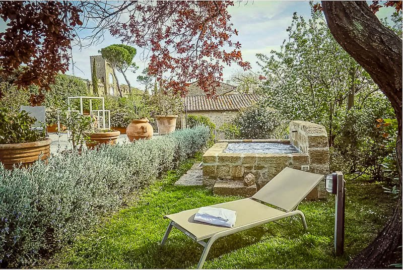 Large outdoor gardens and patio