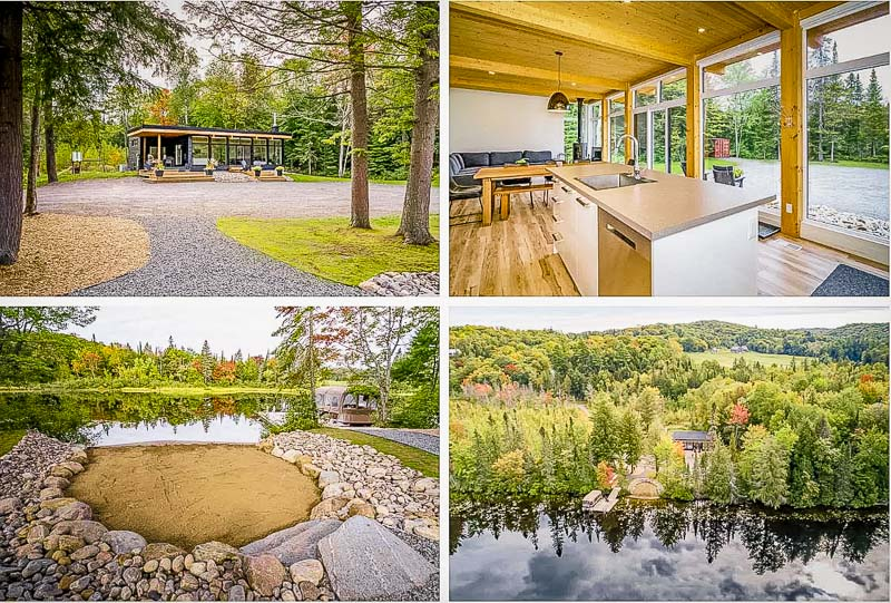 Vacation rental surrounded by forest and lake