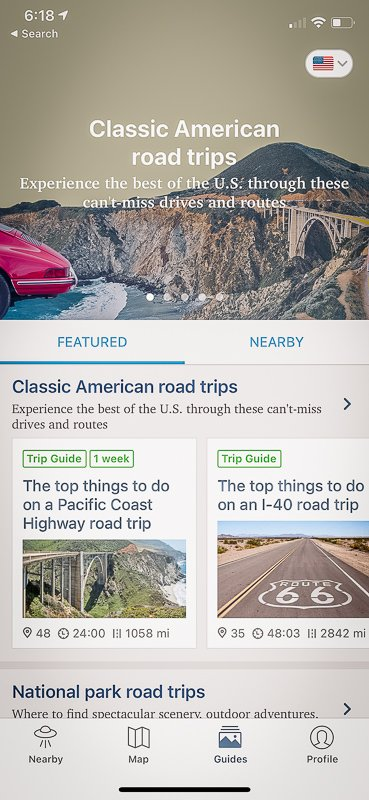Roadtrippers is a useful travel app for travelers wishing to plan a road trip