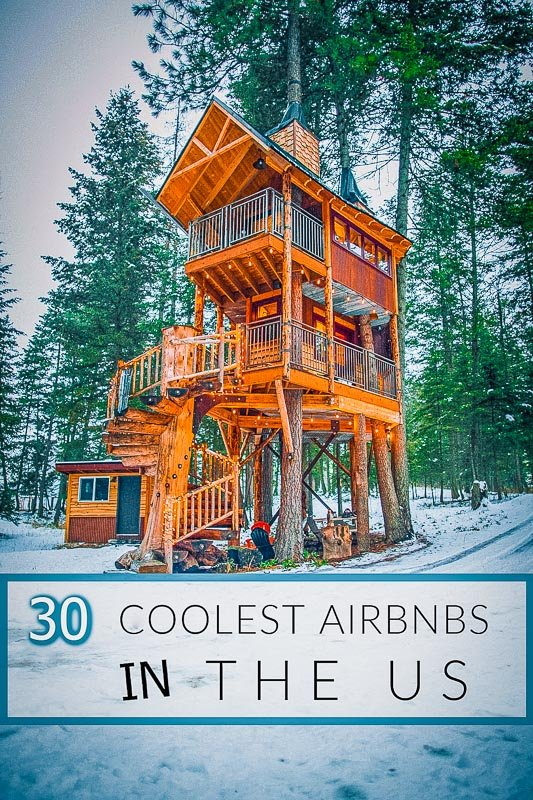 Most unique Airbnbs in the US pinterest photo