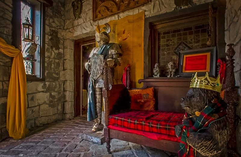 Beautiful castle decor and thoughtful touches