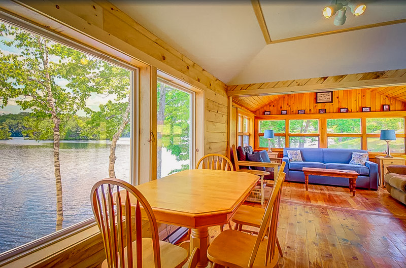 Maine cabin rental on lake with private dock