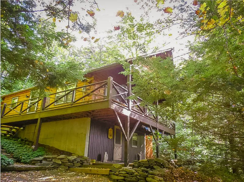 This rustic home is one of the best cabin rentals in the Berkshires, hands down