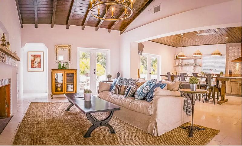Ornate decor inside this luxury villa rental in Miami