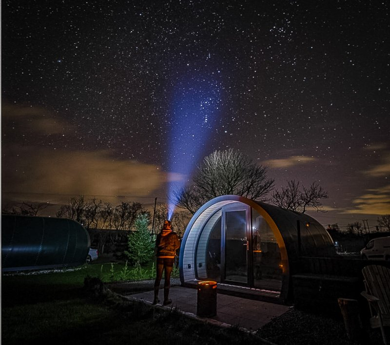 A beautiful glamping pod for rent on Airbnb in the UK