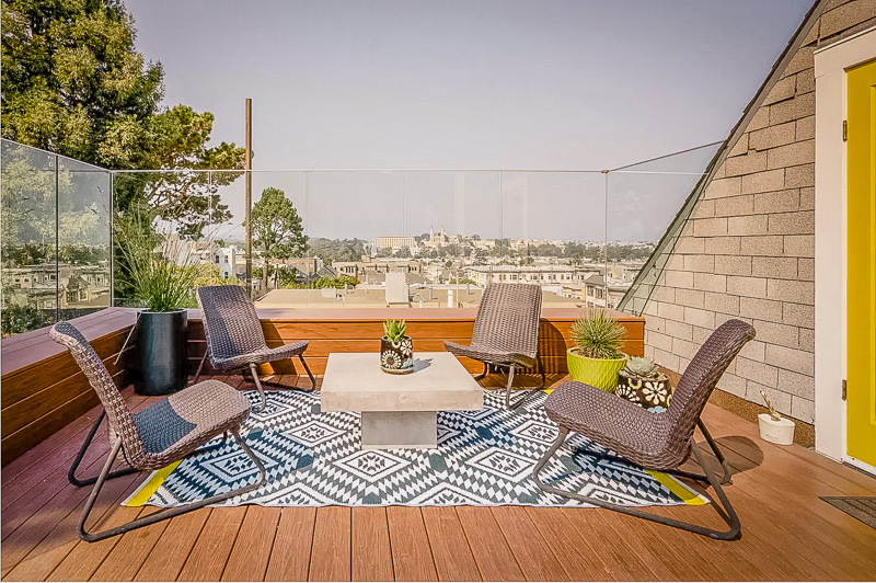 Charming house for rent in San Francisco with terrace