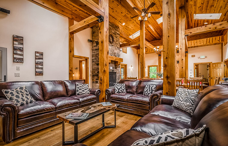 Rustic and classic interior furnishings