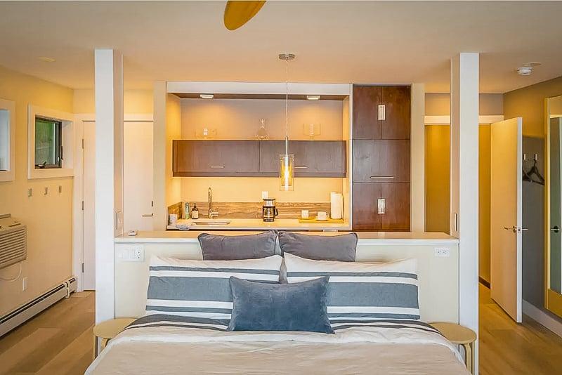 Bedroom suite in the Finger Lakes rental.