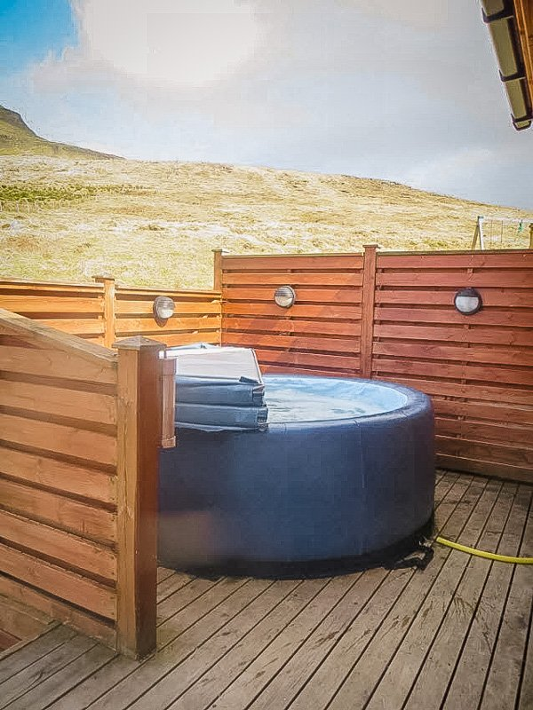 Refreshing hot tub in a cabin