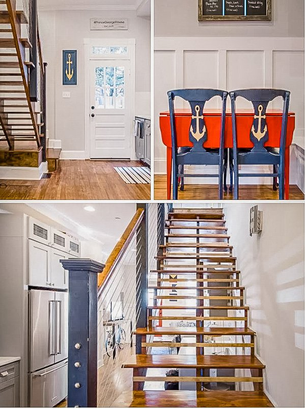 A beautiful house to rent in Maryland with nautical features.