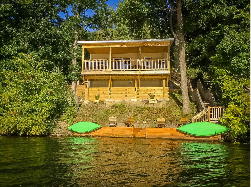 Finger Lakes lake house rental with kayaks and private beach