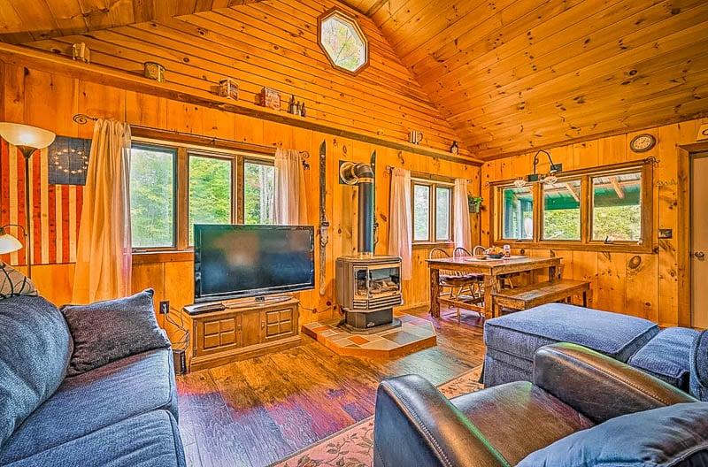 This rustic furniture embodies the quintessential Vermont log cabin.