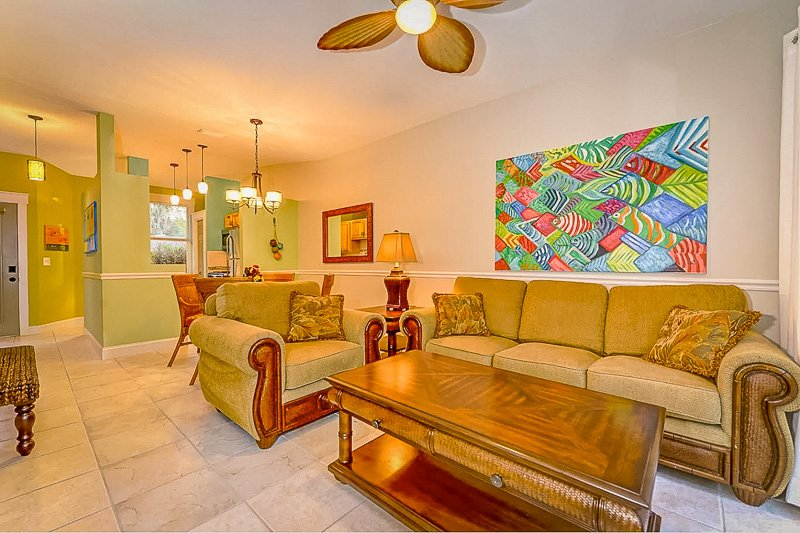 This villa rental in Florida has a beautiful interior living space