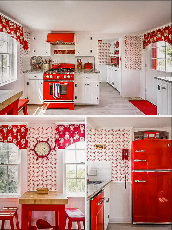 Warm and inviting kitchen area