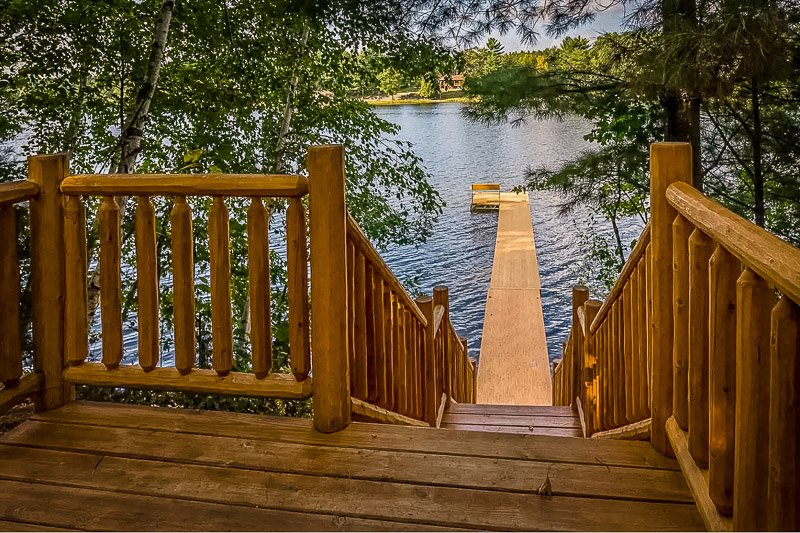 Lake house vacation rental views in the Midwest