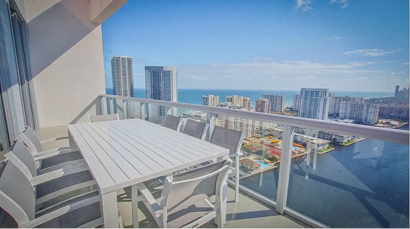 Stunning panoramic views from the rooftop terrace inside this Florida vacation rental