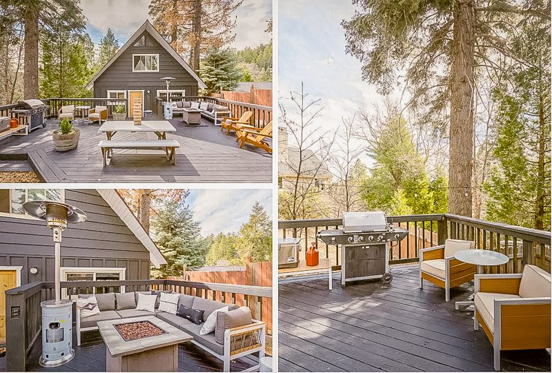 Outdoor façade of this SoCal cabin for rent