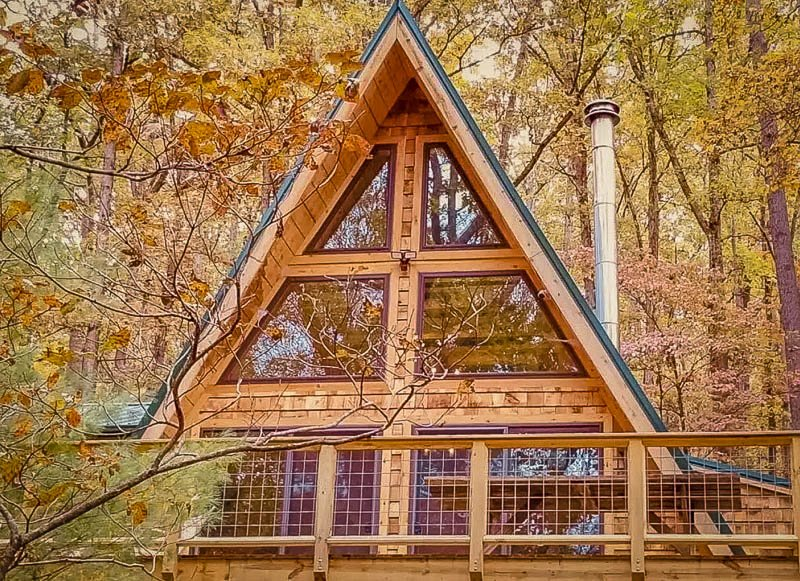 Unique A-Frame cabin rental in West Virginia