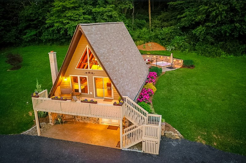 An A-Frame cabin vacation rental in Pennsylvania