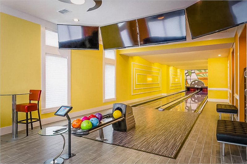 Luxury Airbnb bowling alley