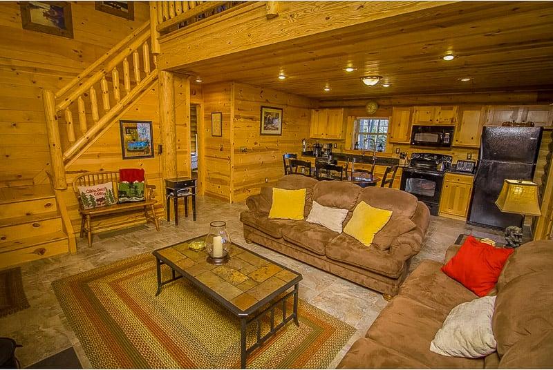 Rustic log cabin-style furniture