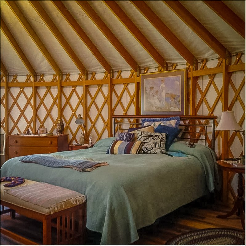 A yurt rental in New England brimming with enchantment