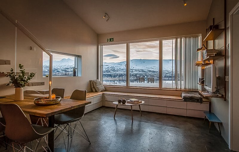 A modern Iceland vacation rental with stunning views