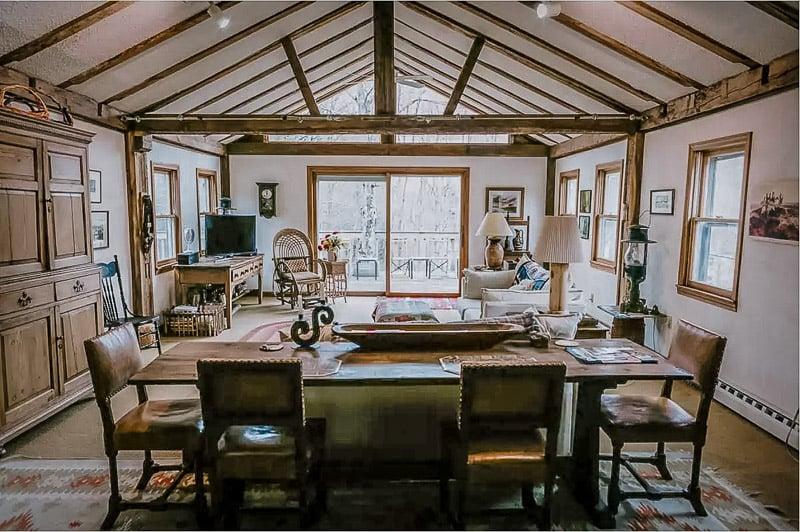 Rustic yet modern interior living space