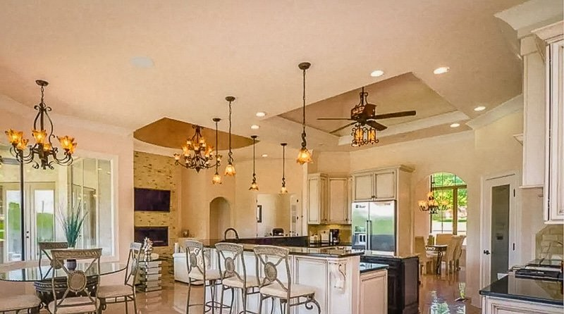 Elegant kitchen and dining room inside the Tennessee vacation rental