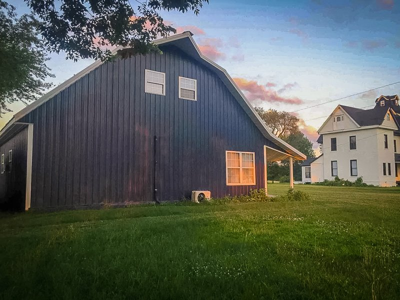 This barn house has plenty of space for large groups