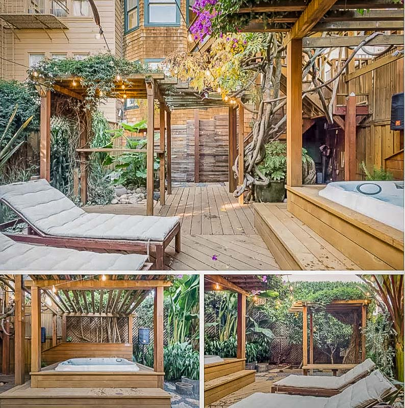 SF vacation rental with spacious outdoor patio