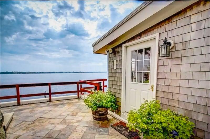A waterfront beach house rental in Rhode Island