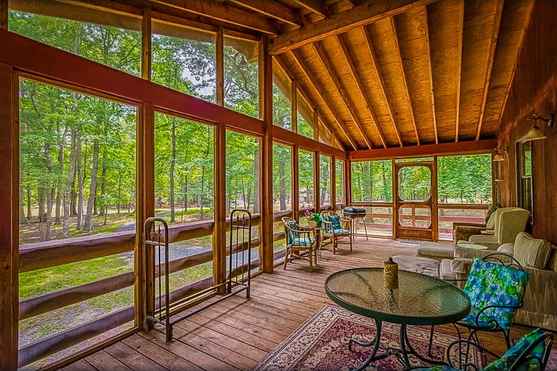 Spacious porch with beautiful views